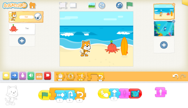 アプリ②:Scratch Jr(スクラッチジュニア)